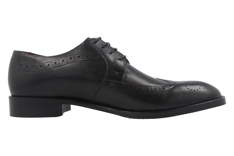 MANZ - Terni - Herren Business Schuhe - Schwarz Schuhe in Übergrößen – Bild 4