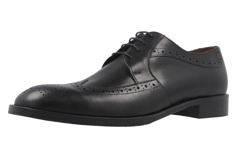 MANZ - Terni - Herren Business Schuhe - Schwarz Schuhe in Übergrößen – Bild 1