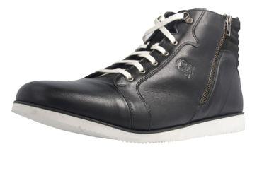 MANZ - Herren Halbschuhe - Schwarz Schuhe in Übergrößen – Bild 1