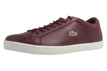 LACOSTE - Herren Sneaker - Straightset SP 317 - Burgund Schuhe in Übergrößen – Bild 1