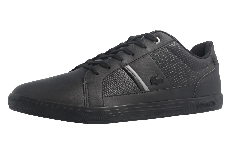 best website 5eab2 d2c2d Lacoste Sneaker in Übergrößen Schwarz 7-34SPM0044024 große Herrenschuhe