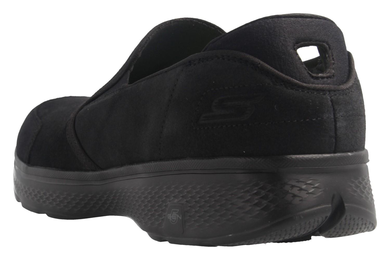 SKECHERS - Herren Slipper - GO WALK 4-Deliver - Schwarz Schuhe in Übergrößen – Bild 3