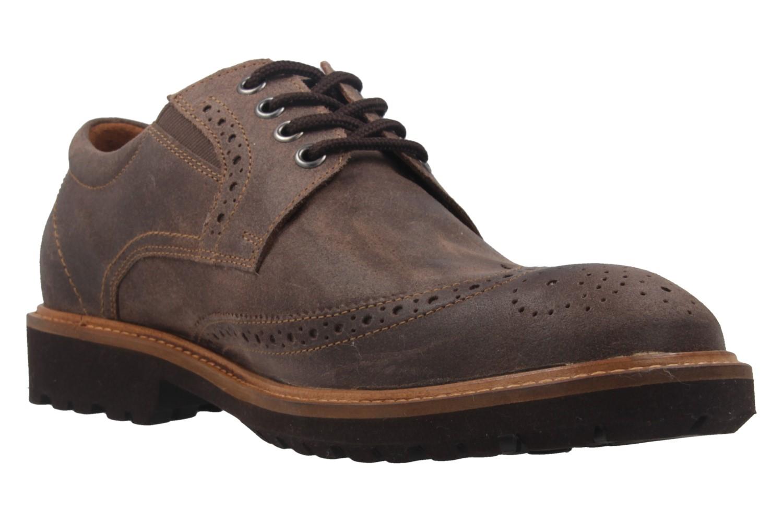 MANZ - Herren Business Schuh - Rock Suede Eva - Braun Schuhe in Übergrößen – Bild 5