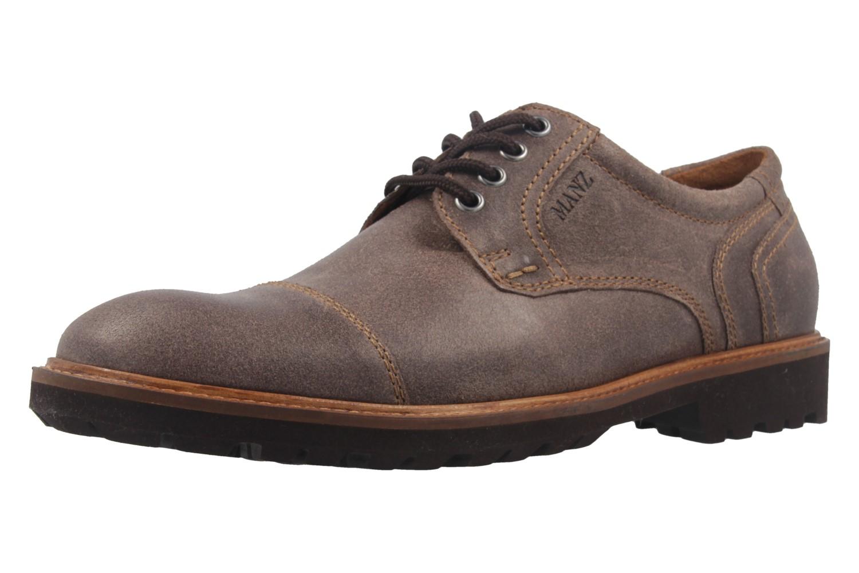 MANZ - Herren Business Schuh - Rock Suede Eva - Braun Schuhe in Übergrößen – Bild 1