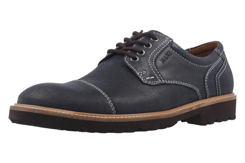 MANZ - Herren Business Schuh - Rock Suede Eva - Blau Schuhe in Übergrößen – Bild 1