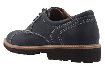 Manz Business Schuh in Übergrößen Blau 146065 03 047 große Herrenschuhe – Bild 2