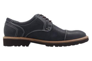 Manz Business Schuh in Übergrößen Blau 146065 03 047 große Herrenschuhe – Bild 4