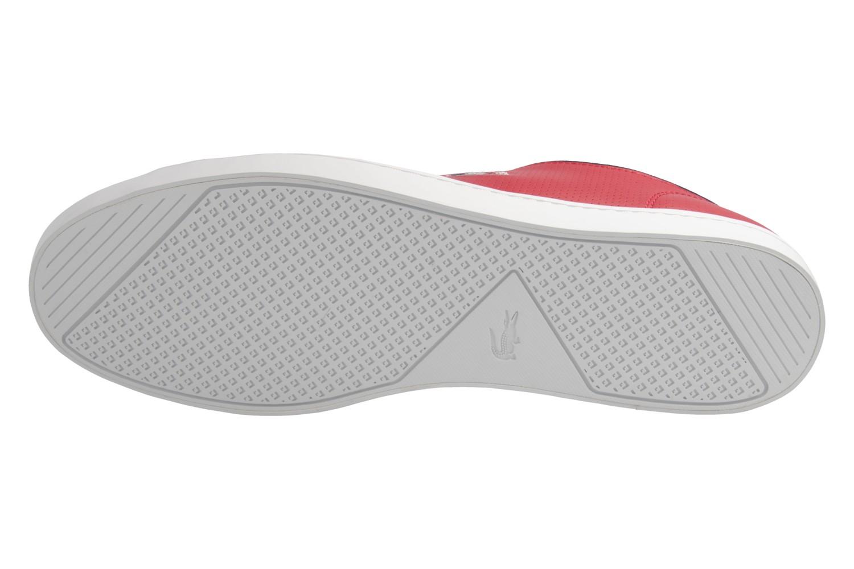 Lacoste Sneaker in Übergrößen Rot 7-34CAM0064047 große Herrenschuhe – Bild 8