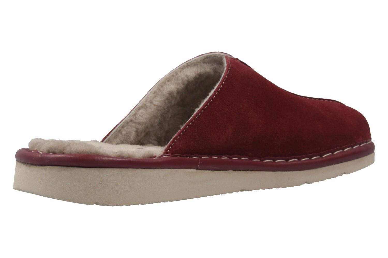 Fortuna - Nelly Flex - Damen Hausschuhe Lammfell - Rot Schuhe in Übergrößen – Bild 3