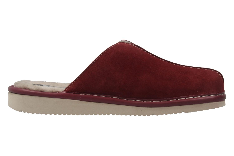Fortuna - Nelly Flex - Damen Hausschuhe Lammfell - Rot Schuhe in Übergrößen – Bild 4
