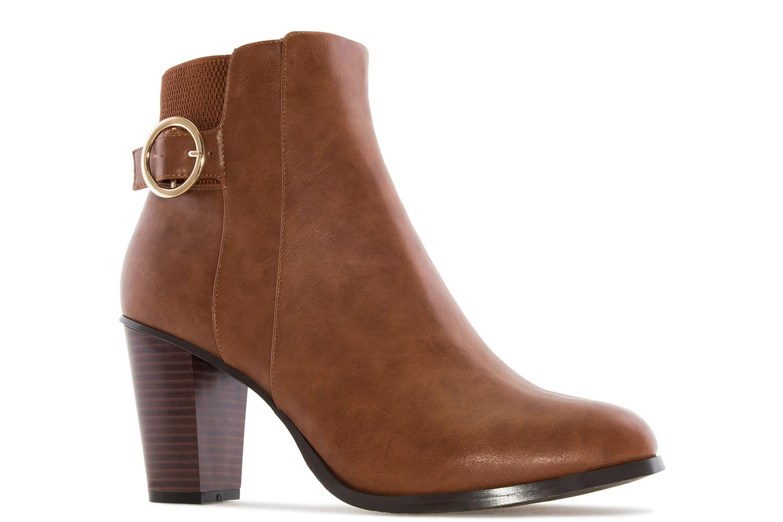 ANDRES MACHADO - Damen Stiefelette - Cognac Schuhe in Übergrößen – Bild 4