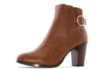 ANDRES MACHADO - Damen Stiefelette - Cognac Schuhe in Übergrößen