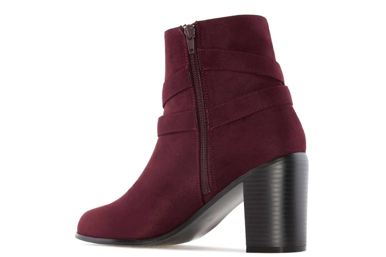 ANDRES MACHADO - Damen Stiefelette - Weinrot Schuhe in Übergrößen – Bild 2