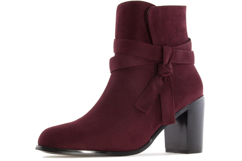 ANDRES MACHADO - Damen Stiefelette - Weinrot Schuhe in Übergrößen – Bild 1