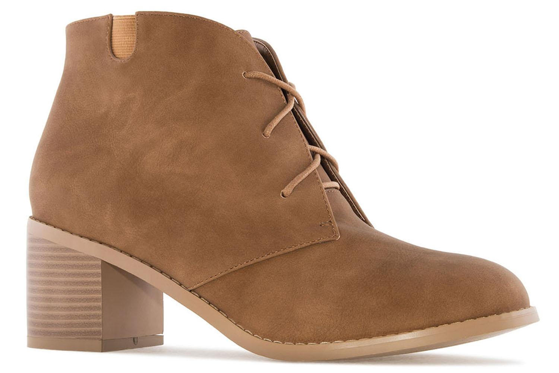 ANDRES MACHADO - Damen Stiefelette - Cognac Schuhe in Übergrößen – Bild 3