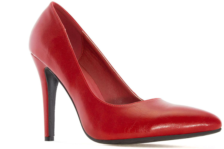 Andres Machado Pumps in Übergrößen Rot AM5199 Soft Rojo große Damenschuhe – Bild 4
