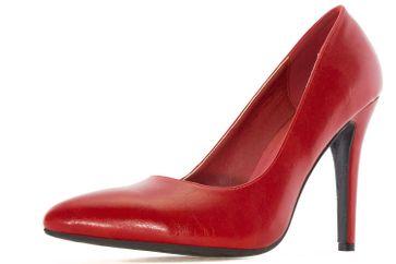 Andres Machado Pumps in Übergrößen Rot AM5199 Soft Rojo große Damenschuhe