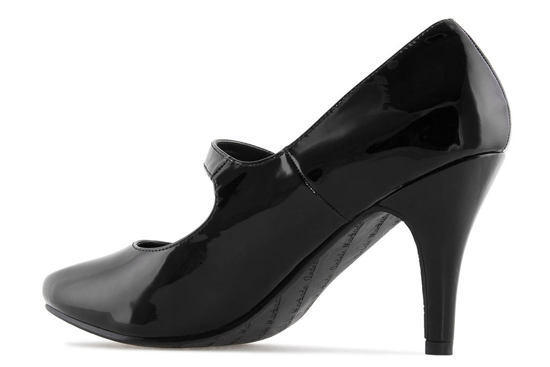 ANDRES MACHADO - Damen Lack Pumps Mary Jane Stil - Schwarz Schuhe in Übergrößen – Bild 2