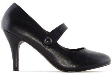 ANDRES MACHADO - Damen Pumps Mary Jane Stil - Schwarz Schuhe in Übergrößen – Bild 3