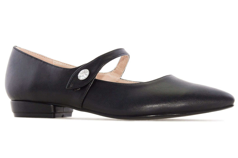 ANDRES MACHADO - Damen Ballerina Mary Jane Stil - Schwarz Schuhe in Übergrößen – Bild 4