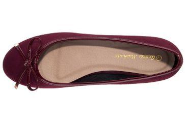 ANDRES MACHADO - Damen Ballerina - Weinrot Schuhe in Übergrößen – Bild 5
