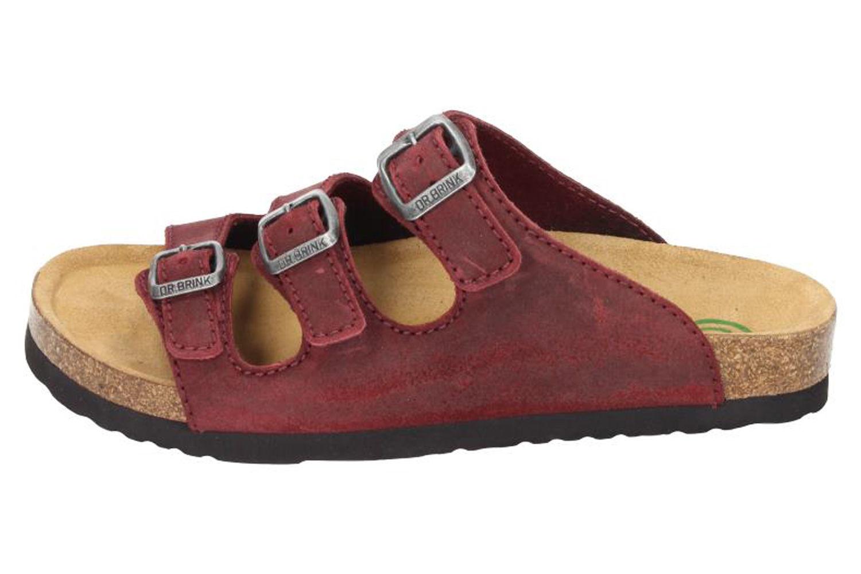 DR. BRINKMANN - Damen Tiefbett Pantolette Rot - Schuhe in Übergrößen – Bild 2