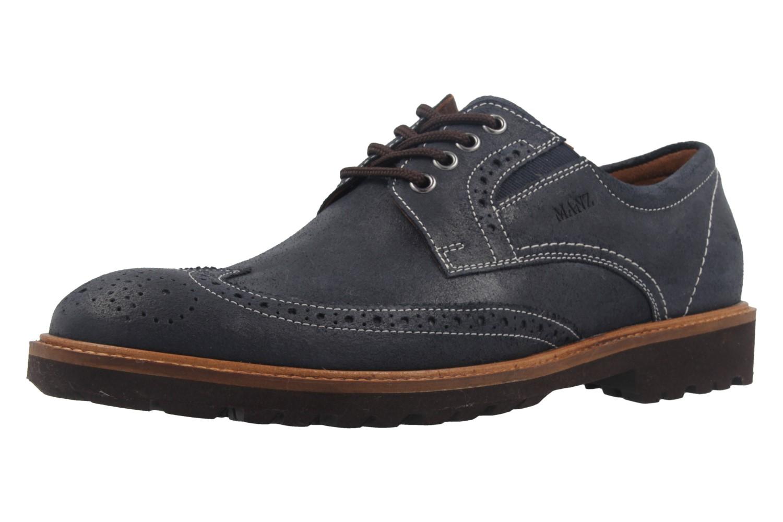 MANZ - Herren Business Schuh - Rock Suede Eva - Dunkelblau Schuhe in Übergrößen – Bild 1
