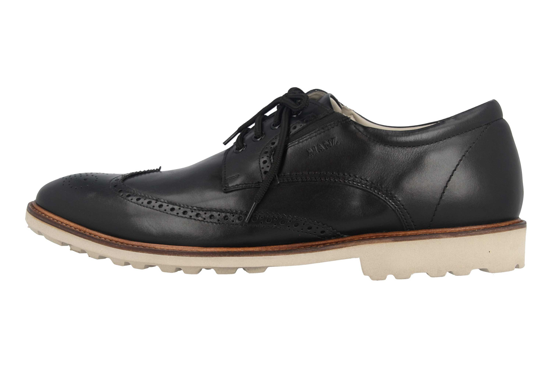 Manz Business Schuhe in Übergrößen Schwarz 146056 03 001 große Herrenschuhe – Bild 1