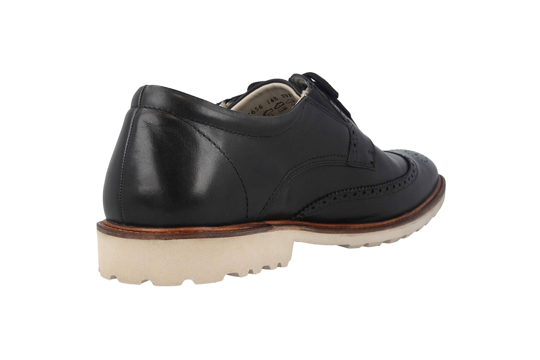 Manz Business Schuhe in Übergrößen Schwarz 146056 03 001 große Herrenschuhe – Bild 3