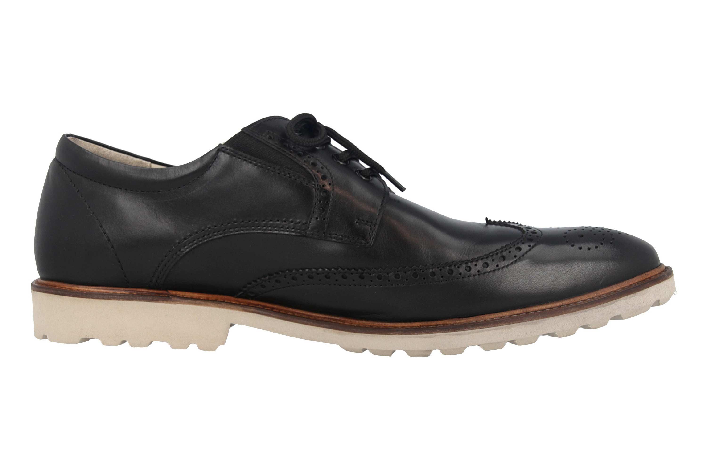 Manz Business Schuhe in Übergrößen Schwarz 146056 03 001 große Herrenschuhe – Bild 4