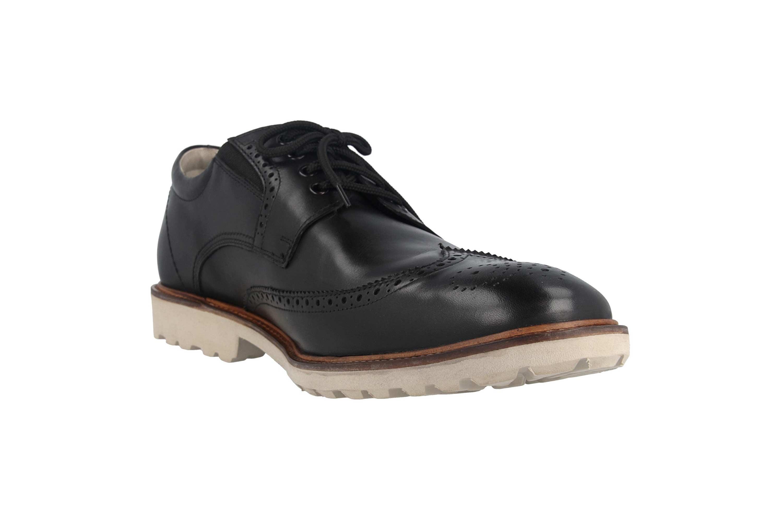 Manz Business Schuhe in Übergrößen Schwarz 146056 03 001 große Herrenschuhe – Bild 5