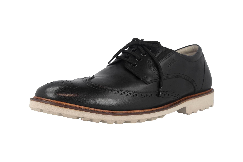 Manz Business Schuhe in Übergrößen Schwarz 146056 03 001 große Herrenschuhe – Bild 6