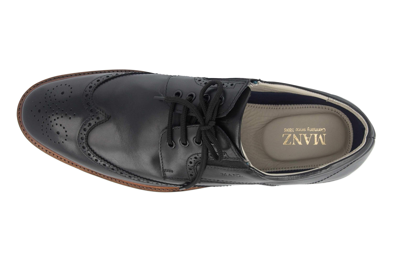 Manz Business Schuhe in Übergrößen Schwarz 146056 03 001 große Herrenschuhe – Bild 7