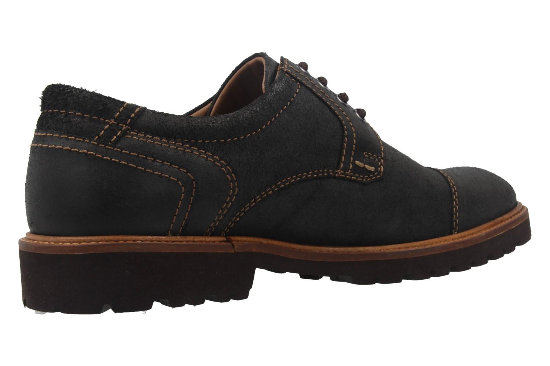 Manz Business Schuh in Übergrößen Schwarz 146065 03 001 große Herrenschuhe – Bild 3