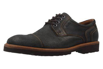 MANZ - Herren Business Schuh - Rock Suede Eva - Schwarz Schuhe in Übergrößen – Bild 1