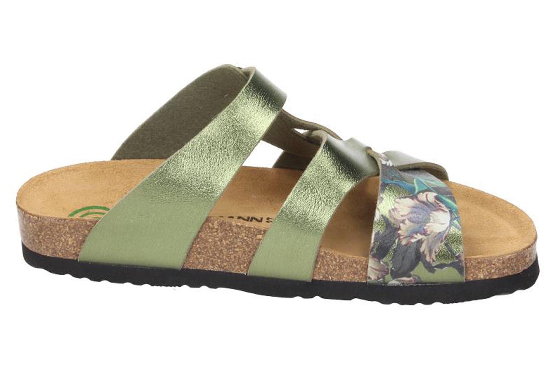 DR. BRINKMANN - Damen Tiefbett Pantolette Grün - Schuhe in Übergrößen – Bild 4