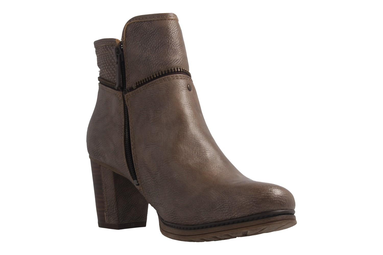 MUSTANG - Damen Stiefeletten - Taupe Schuhe in Übergrößen – Bild 5