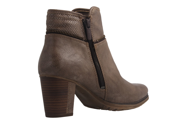 Mustang Shoes Stiefeletten in Übergrößen Beige 1199-518-318 große Damenschuhe – Bild 3