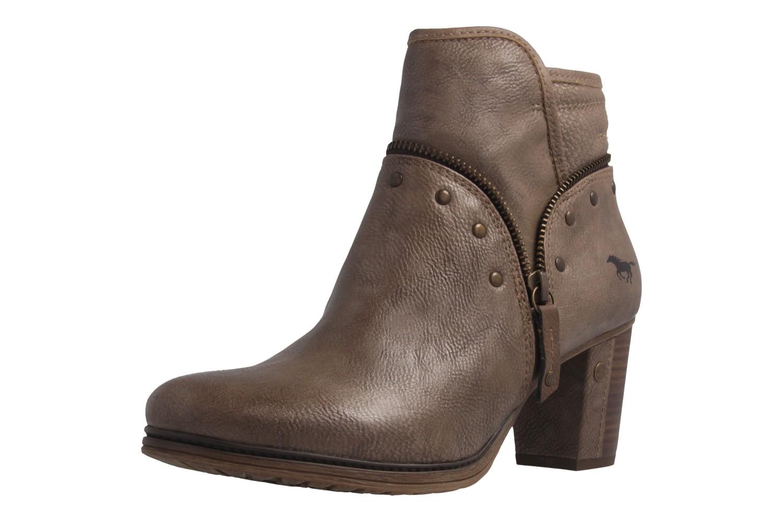Mustang Shoes Stiefeletten in Übergrößen Beige 1199-518-318 große Damenschuhe – Bild 1
