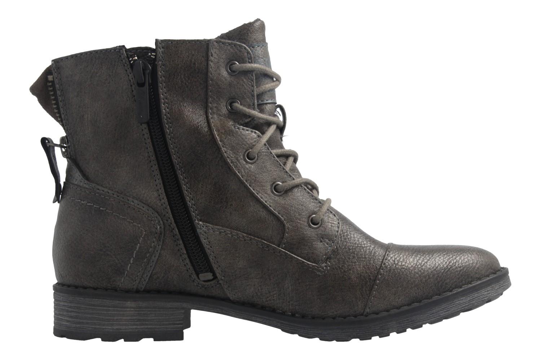 Mustang Shoes Boots in Übergrößen Grau 1265-601-20 große Damenschuhe – Bild 4