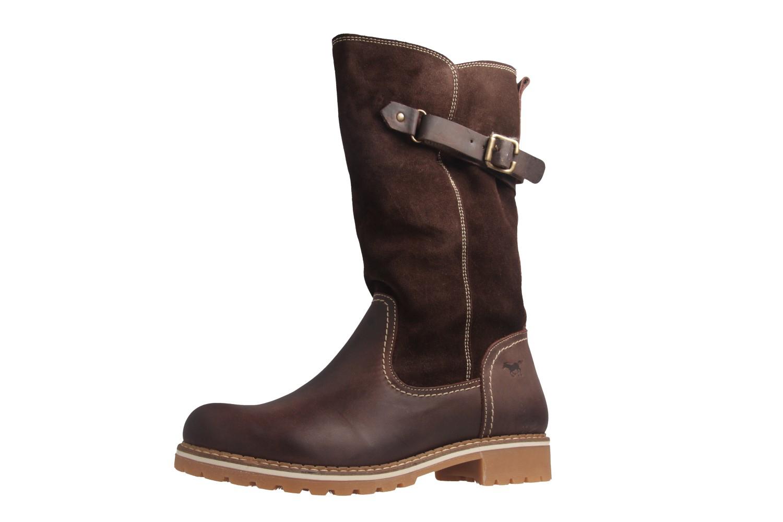 Mustang Shoes Stiefel in Übergrößen Braun 2837-610-32 große Damenschuhe – Bild 1