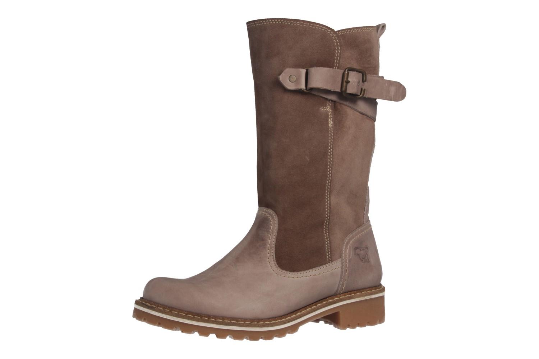 MUSTANG - Damen Stiefel - Taupe Schuhe in Übergrößen – Bild 1