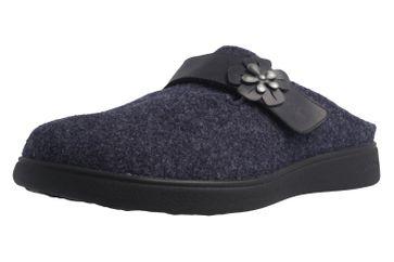 ROMIKA - Gomera 03 - Damen Hausschuhe - Blau Schuhe in Übergrößen