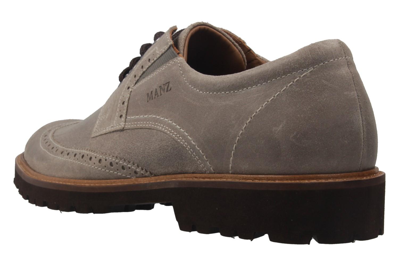 Manz Firenze AGO Puratex Business-Schuhe in Übergrößen Grau 146063-03-023 große Herrenschuhe – Bild 2