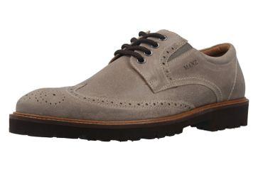Manz Firenze AGO Puratex Business-Schuhe in Übergrößen Grau 146063-03-023 große Herrenschuhe – Bild 1