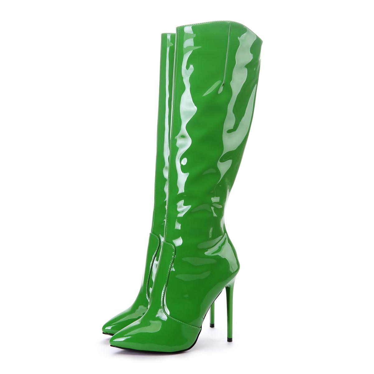 Giaro Stiefel in Übergrößen Grün Elegance 1003 Green  große Damenschuhe – Bild 2