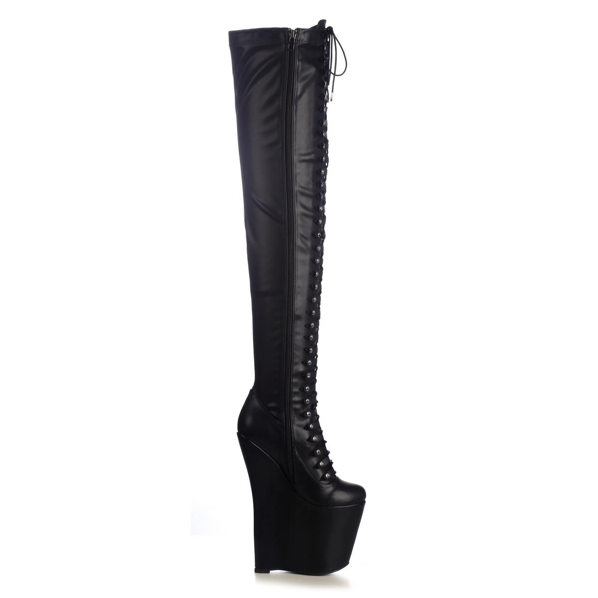 Giaro Mistery 1005 Overknee Stiefel in Übergrößen Schwarz große Damenschuhe – Bild 4