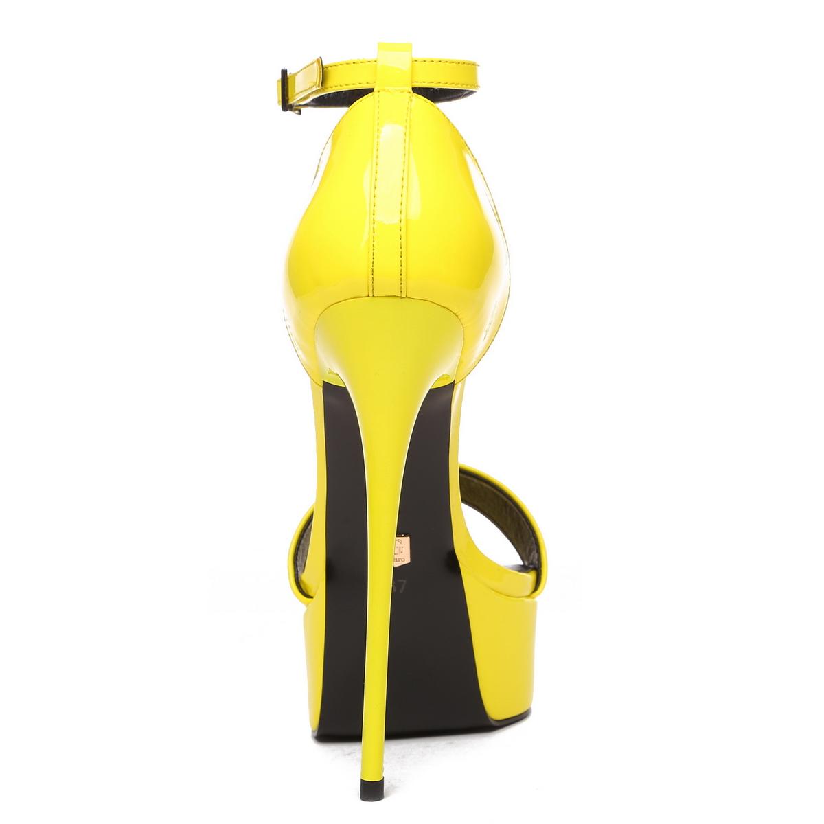 Giaro Sandaletten in Übergrößen Gelb Galana Yellow 1002 große Damenschuhe – Bild 3