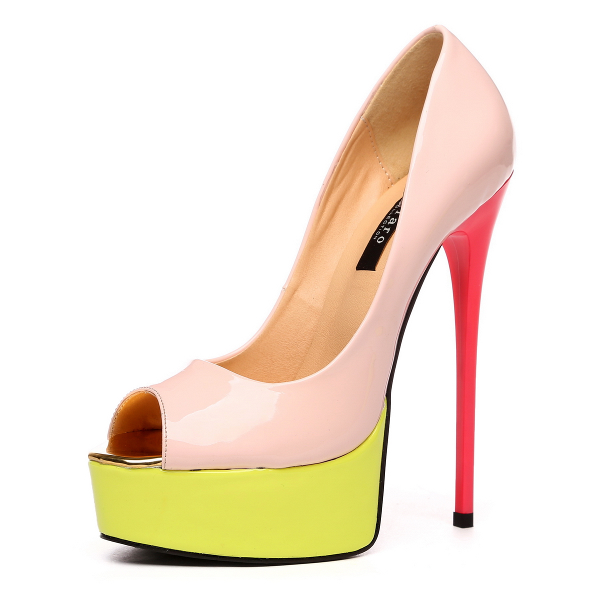 GIARO - Damen Plateau High Heel Pumps - Lack Merfarbig Schuhe in Übergrößen – Bild 1