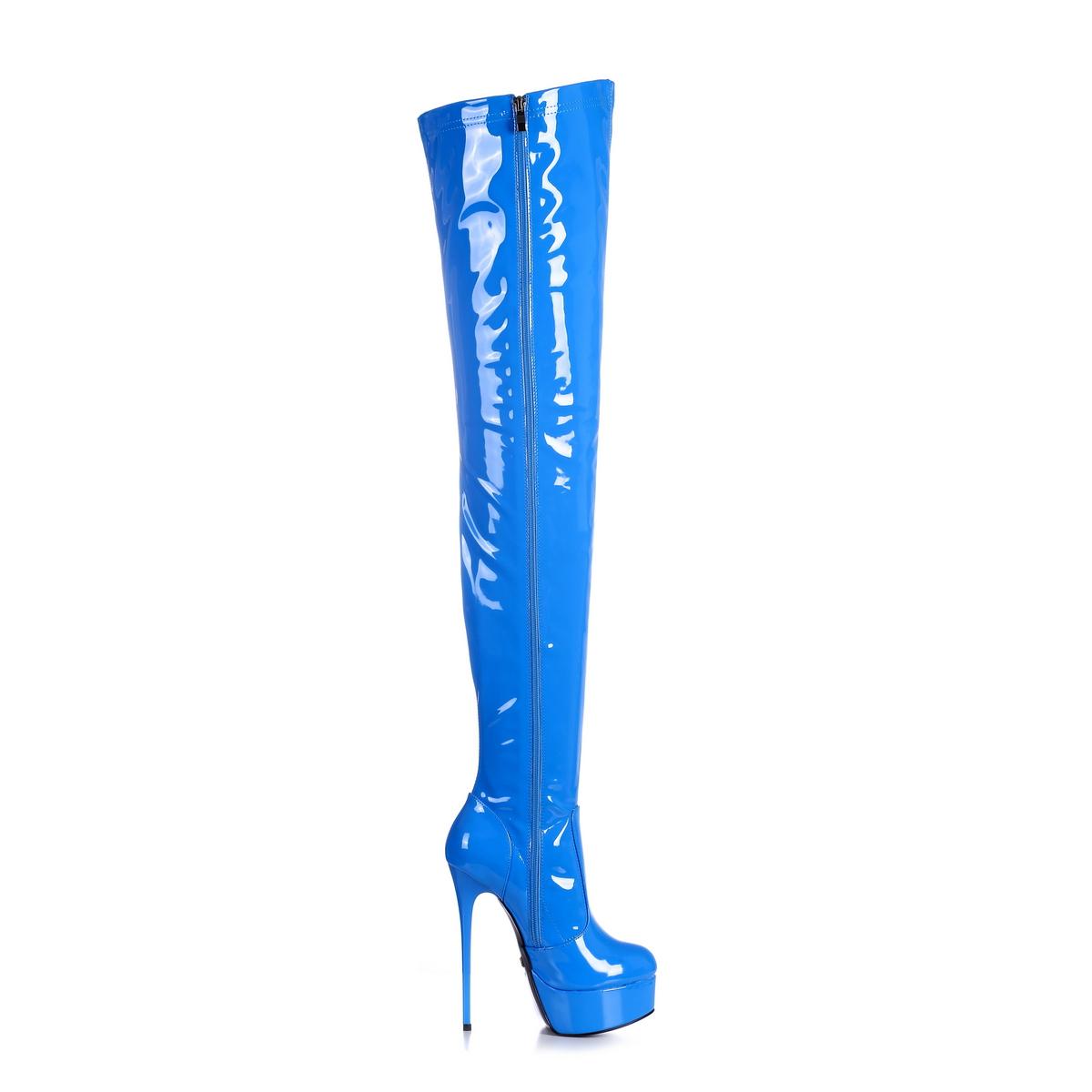 Giaro Galana 1004 Overknee Stiefel in Übergrößen Blau große Damenschuhe – Bild 4